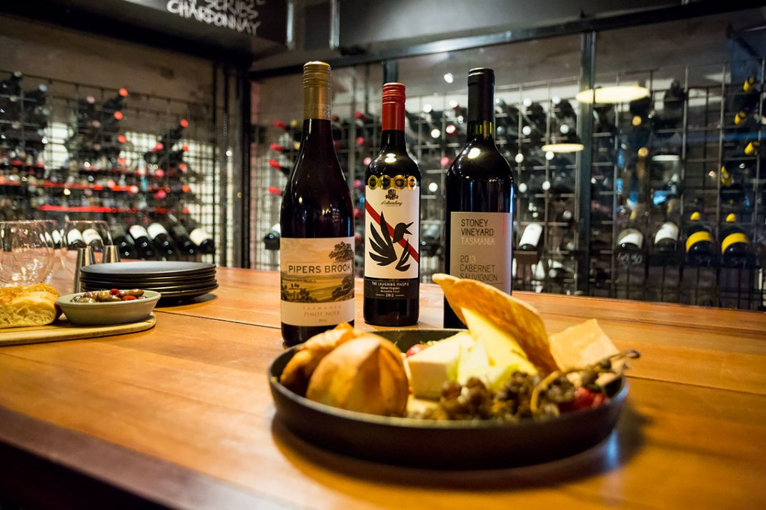Grape has a vast selection of red wines from Tasmania and around the globe.