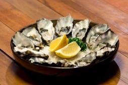 Delicious Barilla Bay oysters.